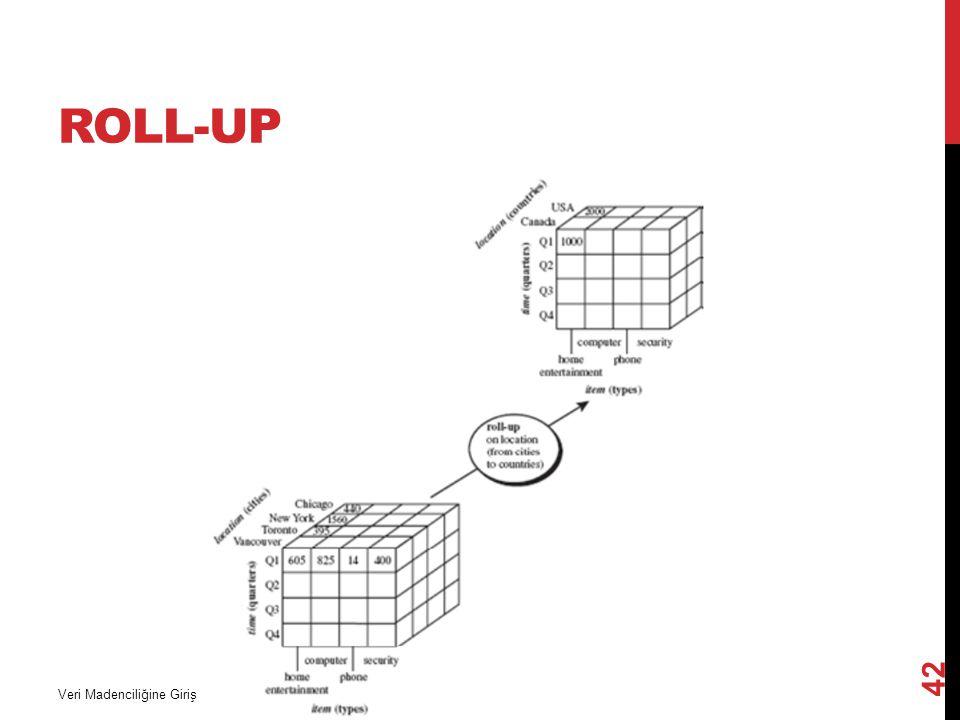 ROLL-UP Veri Madenciliğine Giriş 42