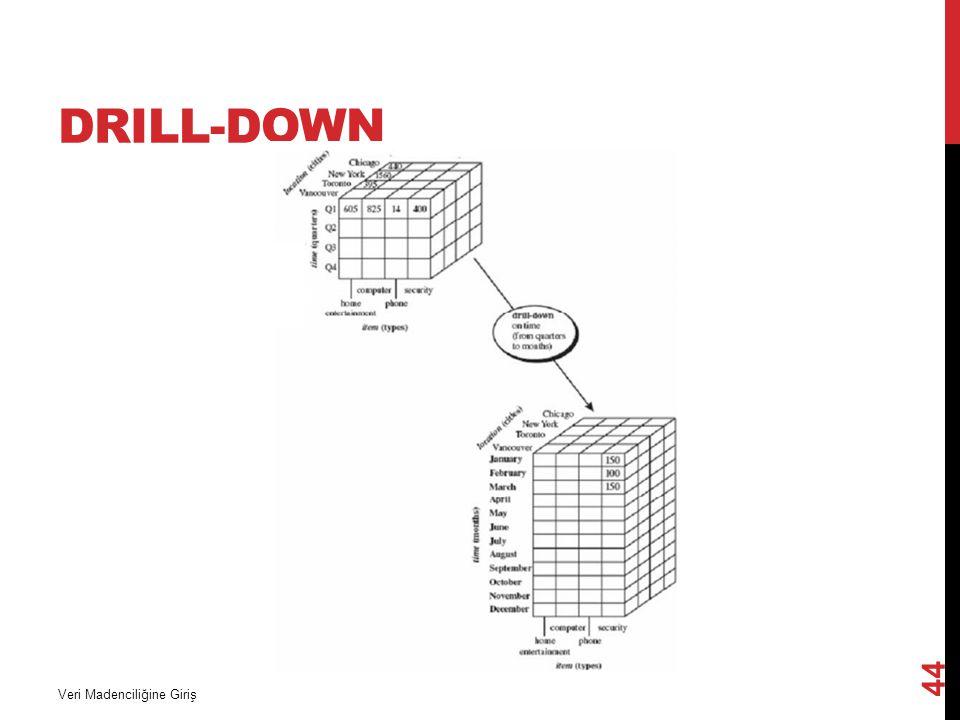 DRILL-DOWN Veri Madenciliğine Giriş 44