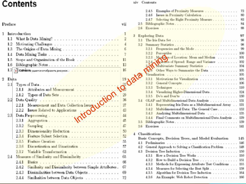 İTÜ Uçak ve Uzay Bilimleri Fakültesi, Meteoroloji Mühendisliği Bölümü, HT, toros@itu.edu.tr 35 Introduction to data mining