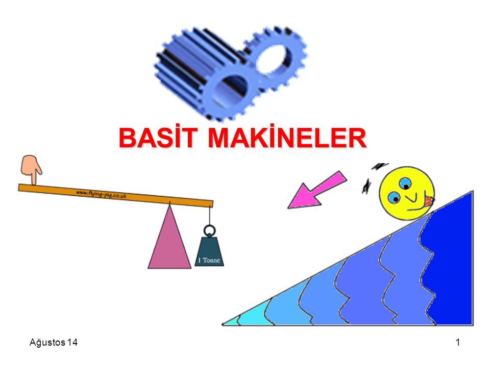 Ağustos 141 BASİT MAKİNELER BASİT MAKİNELER