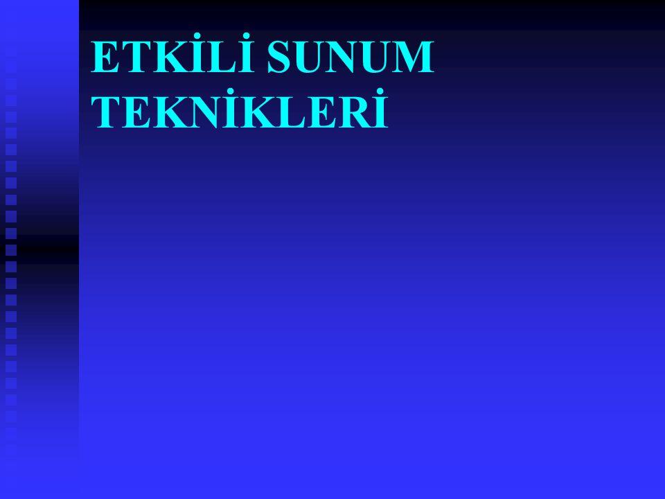 SUNUM Sunum : bir mesajı iletmek amacıyla gerçekleştirilen sözlü ve/veya görsel iletişimdir.