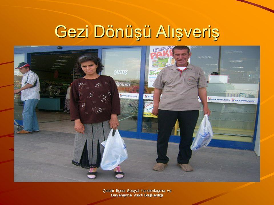 Çelebi İlçesi Sosyal Yardımlaşma ve Dayanışma Vakfı Başkanlığı Gezi Dönüşü Alışveriş