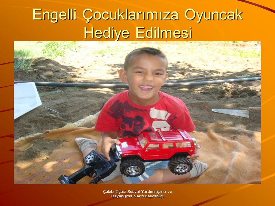 Çelebi İlçesi Sosyal Yardımlaşma ve Dayanışma Vakfı Başkanlığı Engelli Çocuklarımıza Oyuncak Hediye Edilmesi