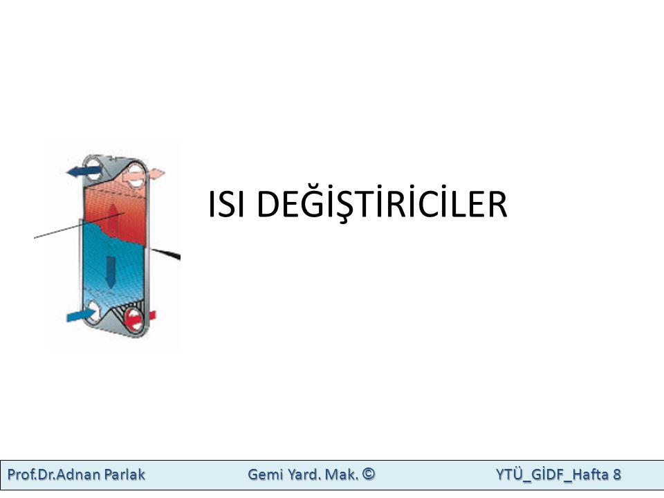 ISI DEĞİŞTİRİCİ Prof.Dr.Adnan Parlak Gemi Yard. Mak. © YTÜ_GİDF_Hafta 8