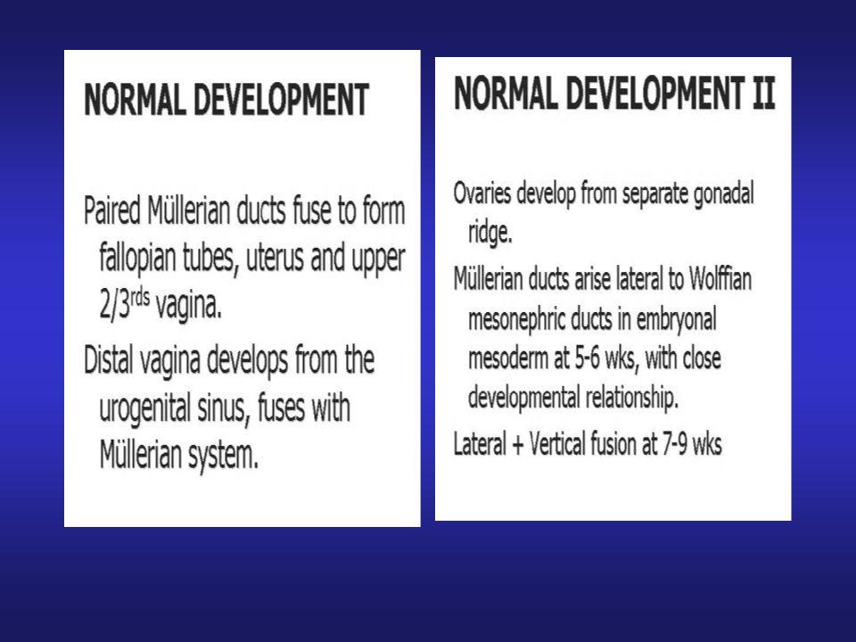 Müllerian Anomalilerin Tanısında Yöntemlerin Etkinliği MRI% 100 3D TV-USG% 92 HSG% 20 Braun, 2005