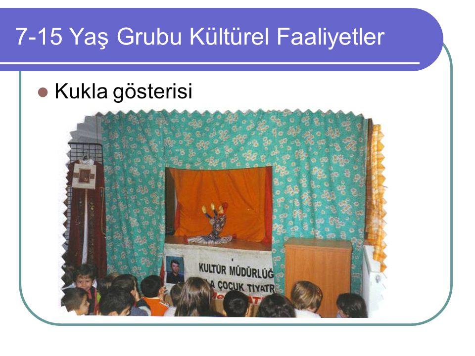 7-15 Yaş Grubu Kültürel Faaliyetler Kukla gösterisi