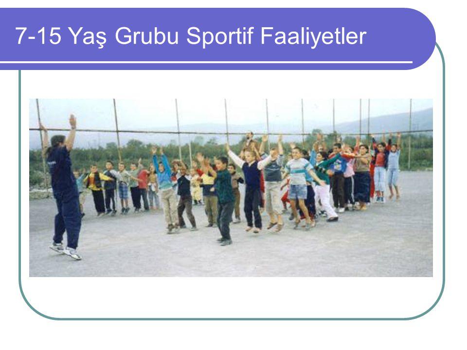 7-15 Yaş Grubu Sportif Faaliyetler