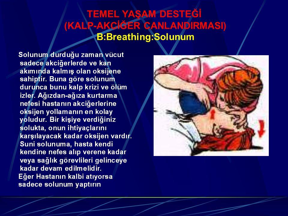 TEMEL YAŞAM DESTEĞİ (KALP-AKCİĞER CANLANDIRMASI) B:Breathing:Solunum