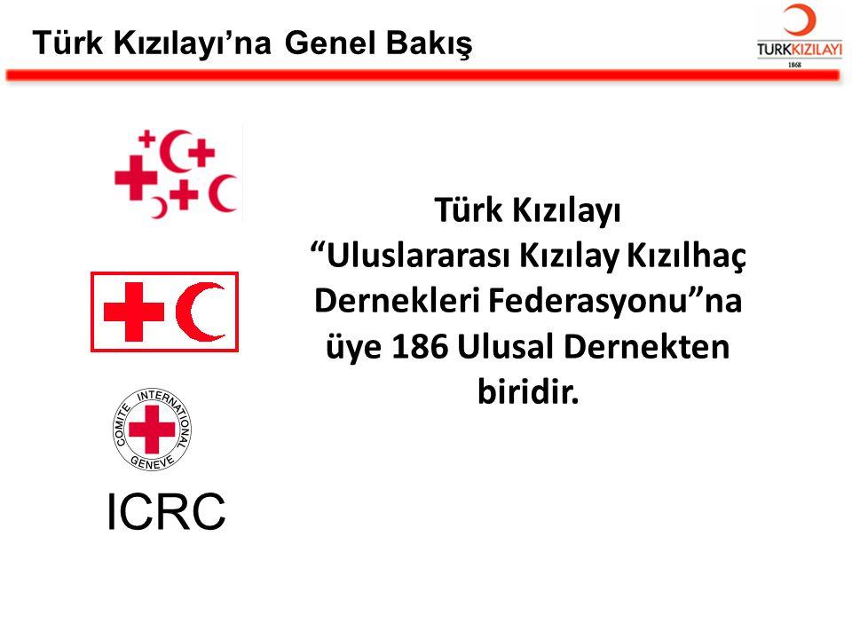 """Türk Kızılayı """"Uluslararası Kızılay Kızılhaç Dernekleri Federasyonu""""na üye 186 Ulusal Dernekten biridir. ICRC Türk Kızılayı'na Genel Bakış"""