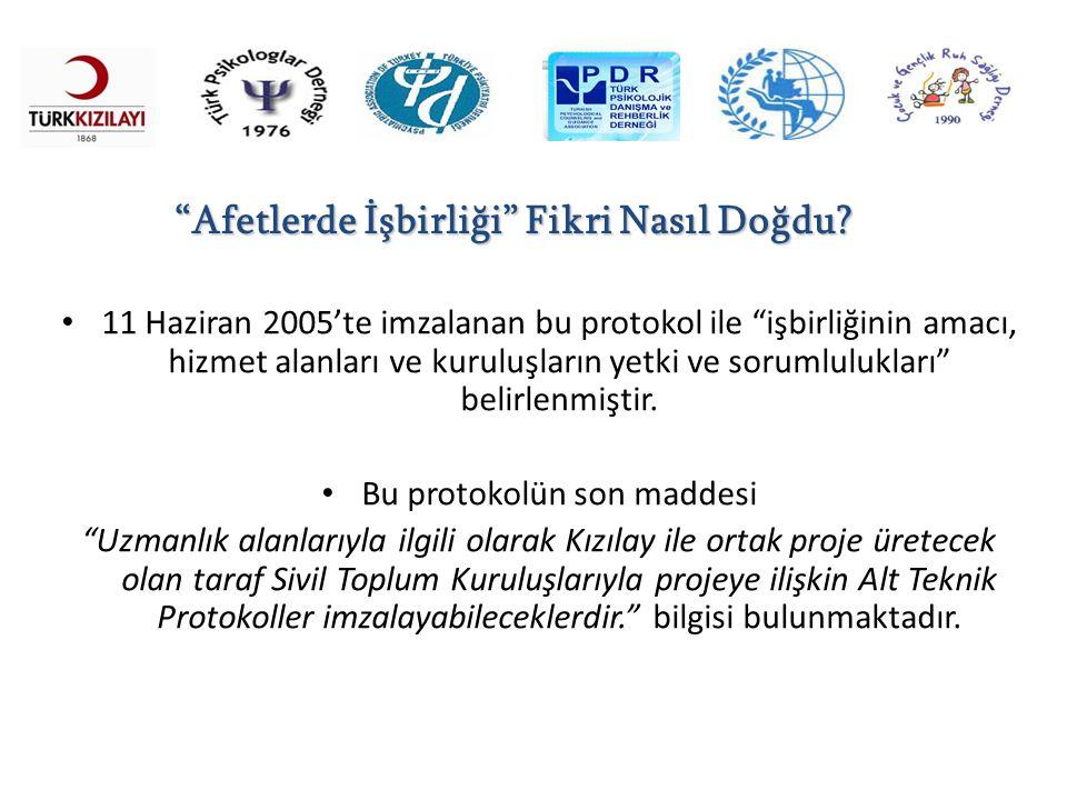 """11 Haziran 2005'te imzalanan bu protokol ile """"işbirliğinin amacı, hizmet alanları ve kuruluşların yetki ve sorumlulukları"""" belirlenmiştir. Bu protokol"""