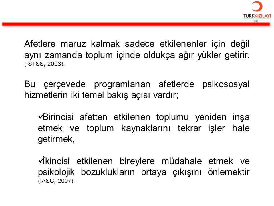 11 Haziran 2005 tarihinde Ulusal ve Uluslararası Afet Yönetiminde Türk Sivil Toplum Kuruluşları İşbirliği Protokolü Türkiye Kızılay Derneği, Türk Psikologlar Derneği, Türkiye Psikiyatri Derneği, Türk Tabipler Birliği, İstanbul ODTÜ Mezunları Derneği ile Ankara ODTÜ Mezunları Derneği temsilcilerinin katılımıyla imzalanmıştır.
