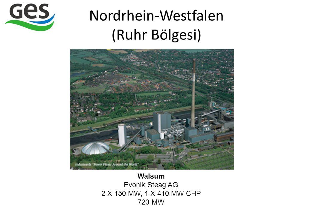 Walsum Evonik Steag AG 2 X 150 MW, 1 X 410 MW CHP 720 MW Nordrhein-Westfalen (Ruhr Bölgesi)