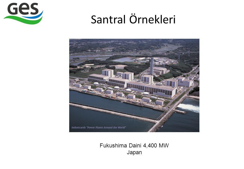 Santral Örnekleri Fukushima Daini 4,400 MW Japan