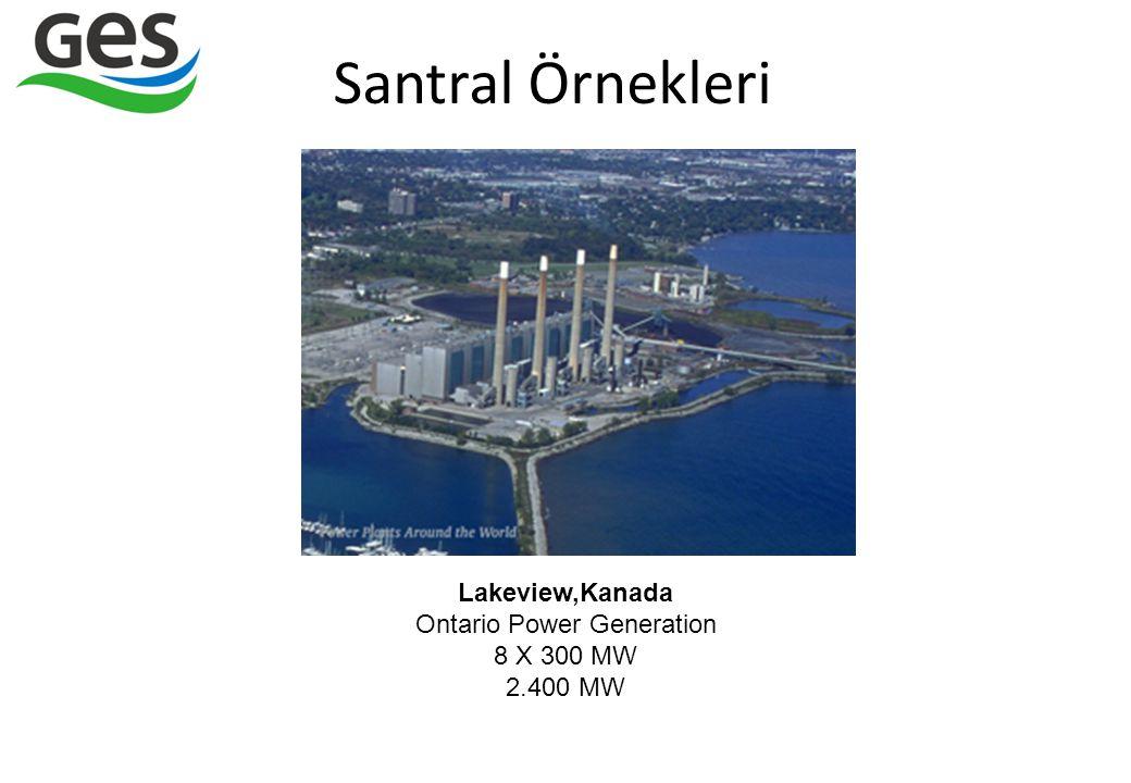 Santral Örnekleri Lakeview,Kanada Ontario Power Generation 8 X 300 MW 2.400 MW