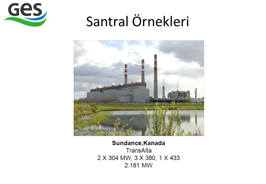 Santral Örnekleri Sundance,Kanada TransAlta 2 X 304 MW, 3 X 380, 1 X 433 2.181 MW