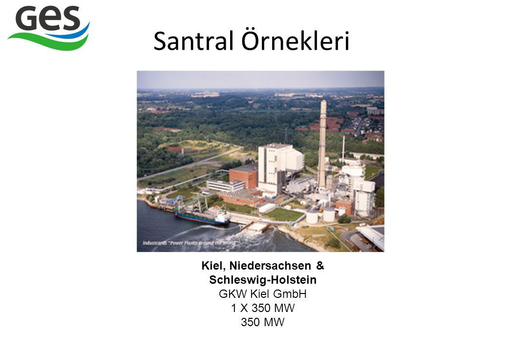Santral Örnekleri Kiel, Niedersachsen & Schleswig-Holstein GKW Kiel GmbH 1 X 350 MW 350 MW