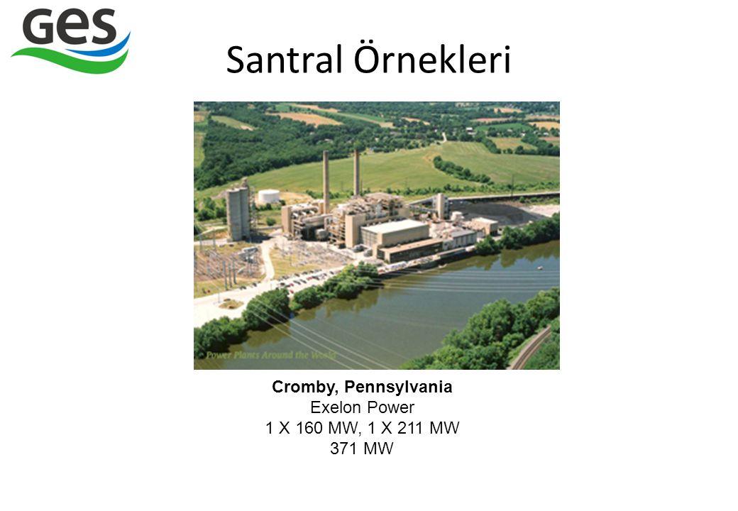 Santral Örnekleri Cromby, Pennsylvania Exelon Power 1 X 160 MW, 1 X 211 MW 371 MW