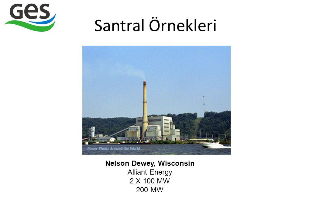Santral Örnekleri Nelson Dewey, Wisconsin Alliant Energy 2 X 100 MW 200 MW
