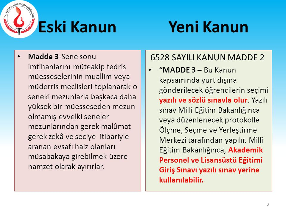 15/A ve 15/B MADDELERİ EKLENMİŞTİR..