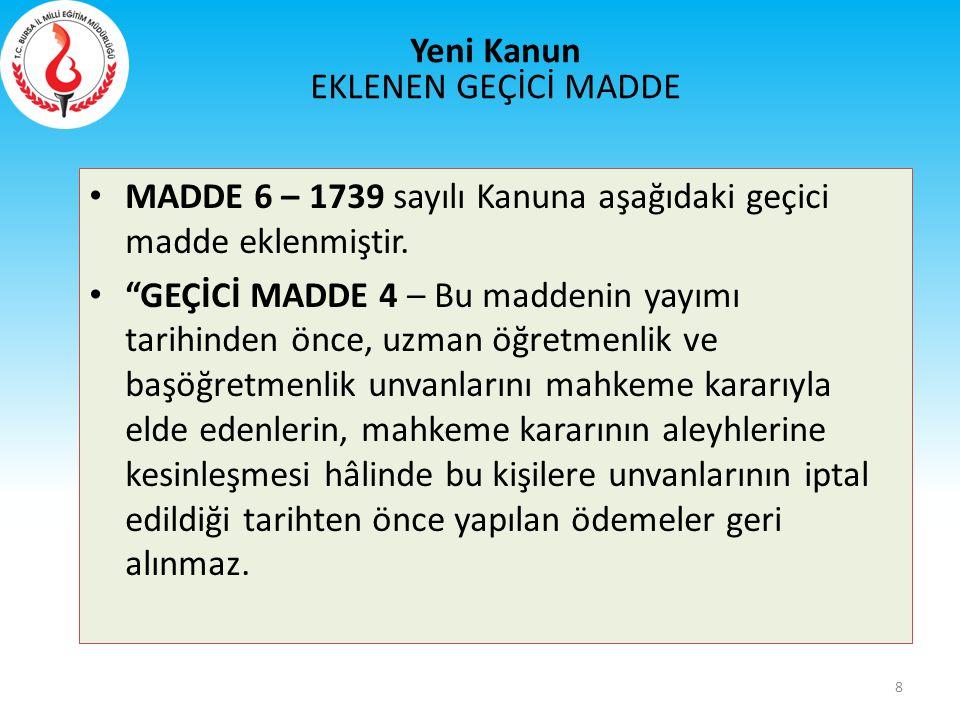 Eski Kanun İl Eğitim Denetmenleri MADDE 23 – 652 sayılı Kanun Hükmünde Kararnamenin 41 inci maddesi başlığı ile birlikte aşağıdaki şekilde değiştirilmiştir.