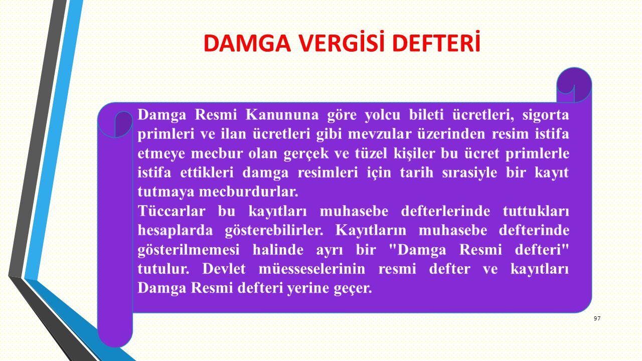 DAMGA VERGİSİ DEFTERİ 97