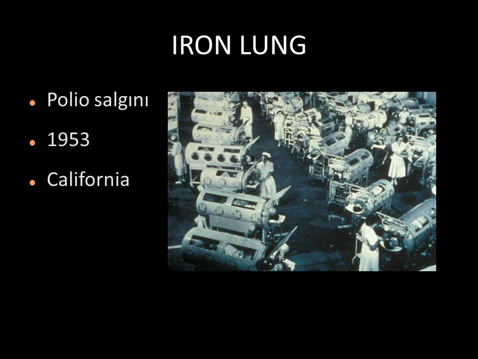 IRON LUNG Polio salgını 1953 California