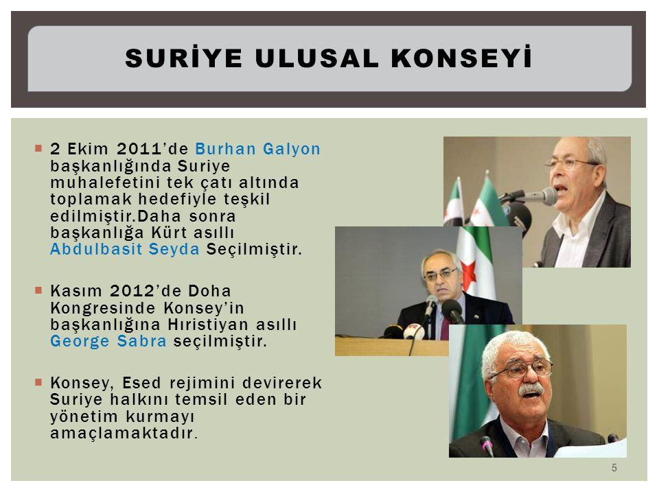  2 Ekim 2011'de Burhan Galyon başkanlığında Suriye muhalefetini tek çatı altında toplamak hedefiyle teşkil edilmiştir.Daha sonra başkanlığa Kürt asıl