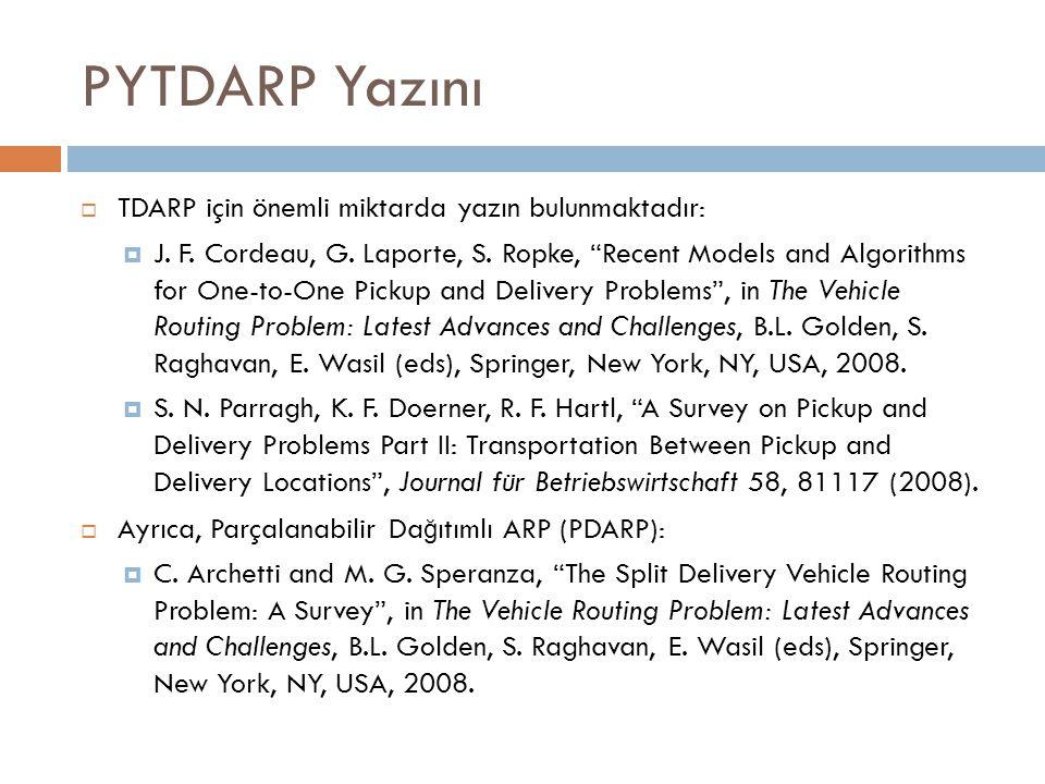 PYTDARP Yazını  TDARP için önemli miktarda yazın bulunmaktadır:  J.