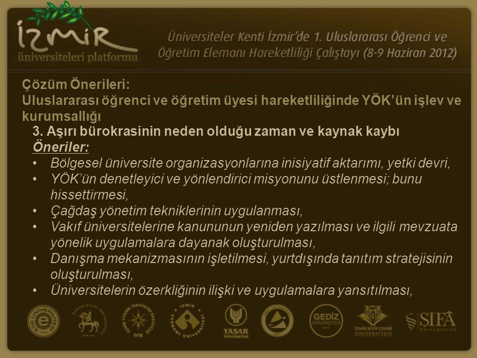 Çözüm Önerileri: Uluslararası öğrenci ve öğretim üyesi hareketliliğinde YÖK ve sivil toplum kurumlarının işbirliği 1.