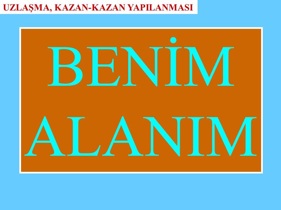 BENİM ALANIM UZLAŞMA, KAZAN-KAZAN YAPILANMASI
