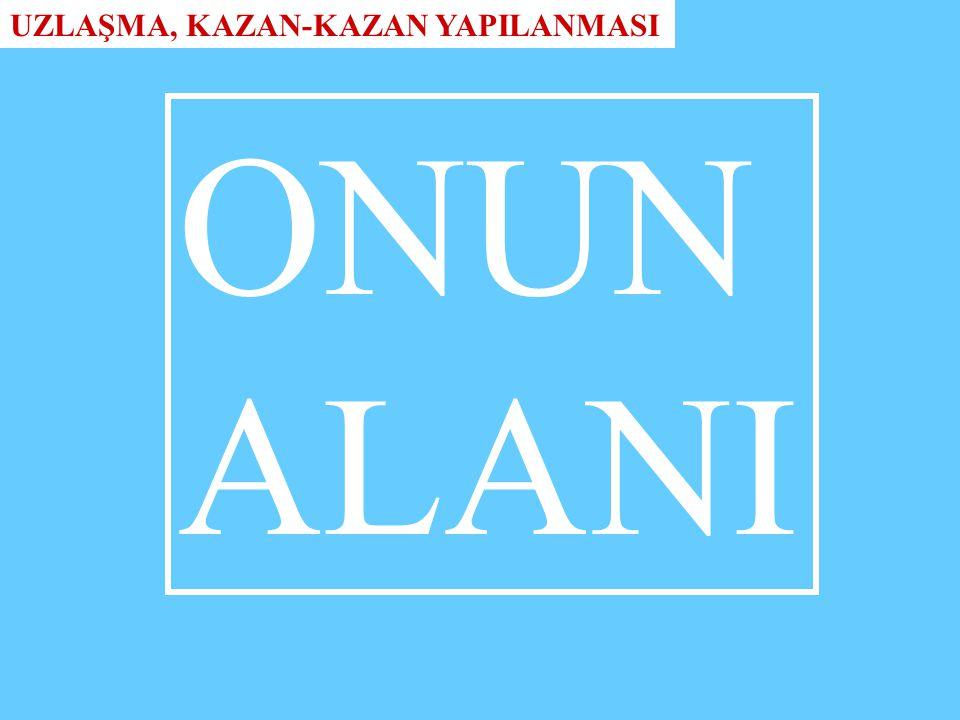 ONUN ALANI UZLAŞMA, KAZAN-KAZAN YAPILANMASI