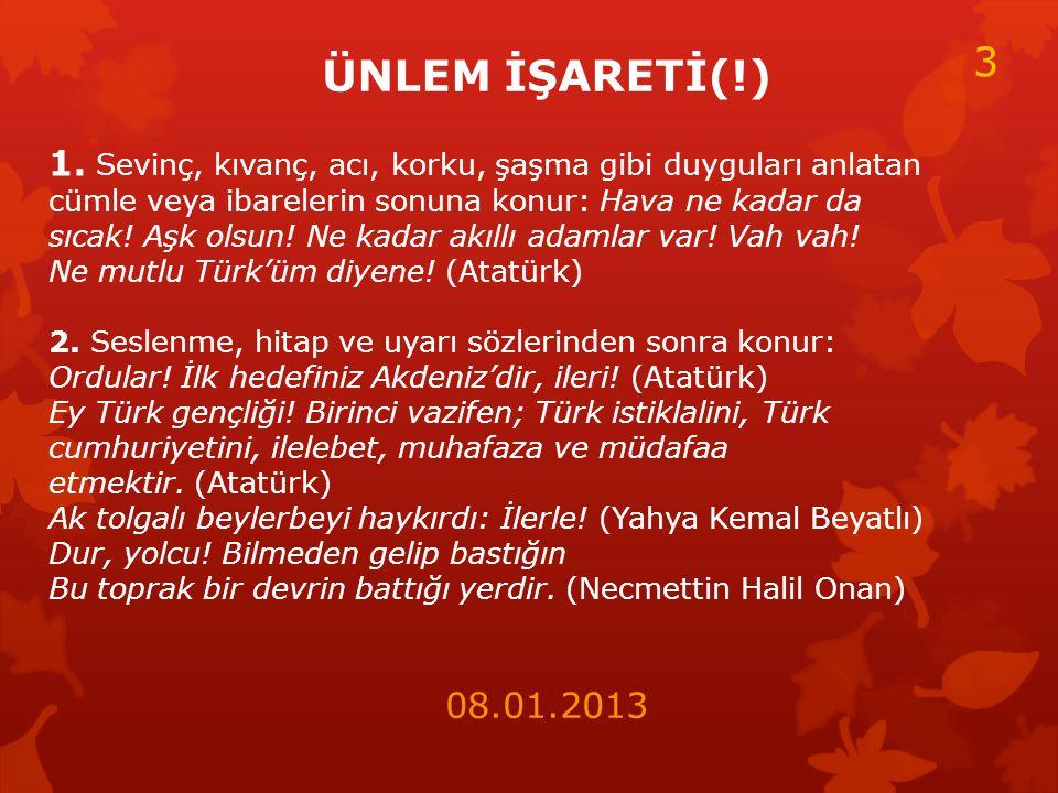 ÜNLEM İŞARETİ(!) 1.