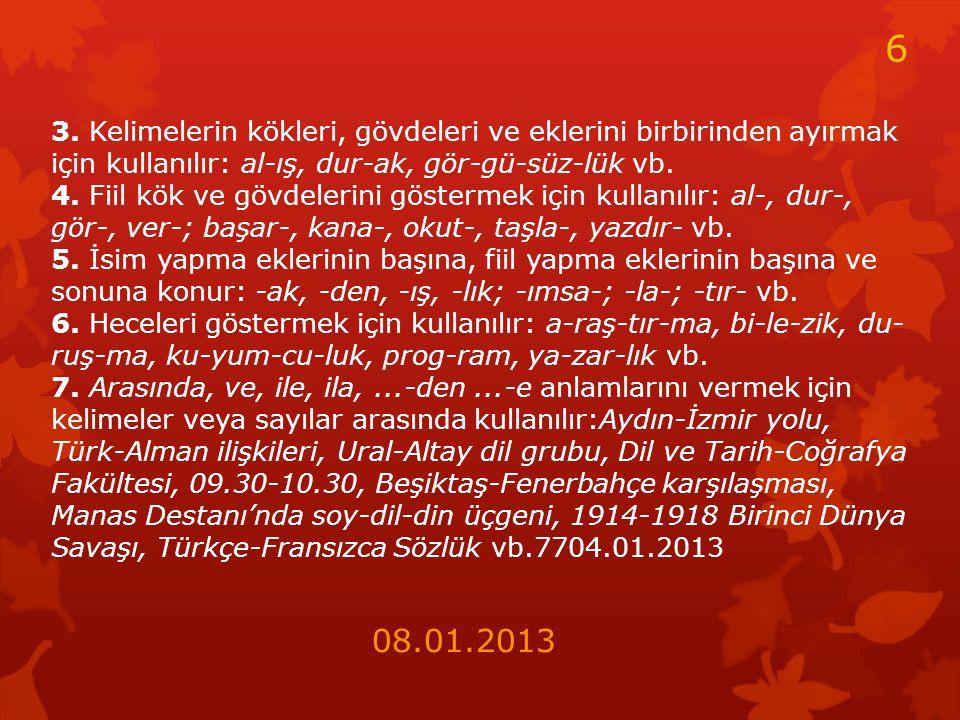KISA ÇİZGİ(-) 1.