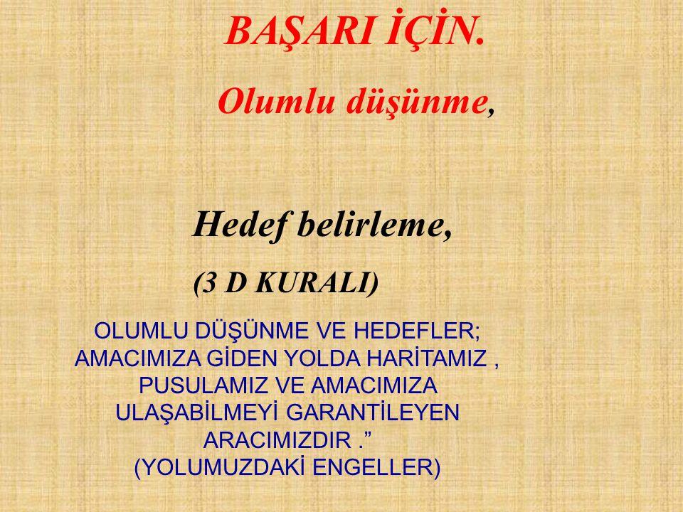 BAŞARI İÇİN.