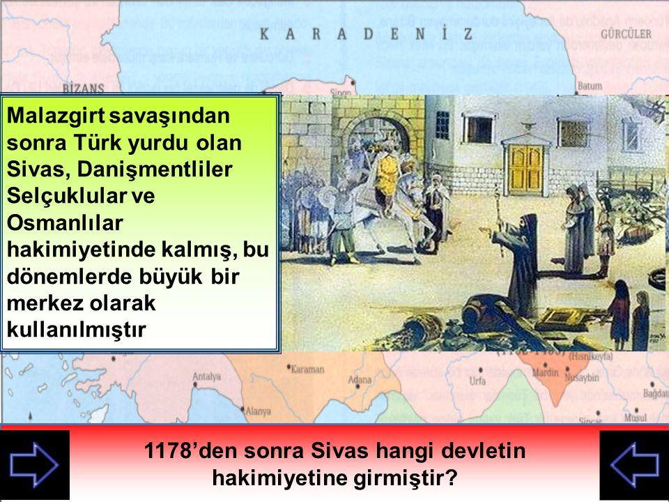 Alparslan'ın Anadolu nun kapılarını açtığı Malazgirt Savaşından sonra Sivas çevresinde kurulan Türk beyliği hangisiydi.
