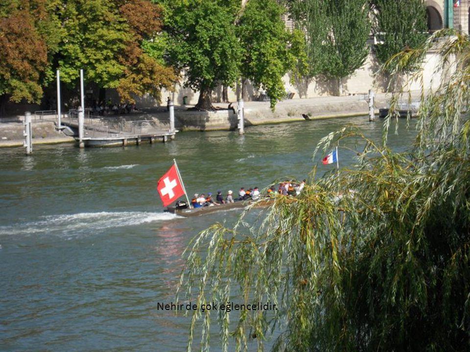 Yollarının üstünde, Seine Nehri boyunca dizili kaldırım sahaflarına bakmaya doyamaz.