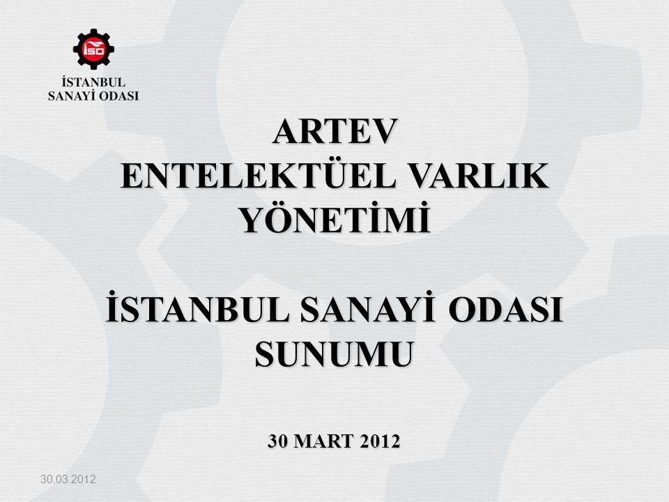 ARTEV ENTELEKTÜEL VARLIK YÖNETİMİ İSTANBUL SANAYİ ODASI SUNUMU 30 MART 2012 30.03.2012