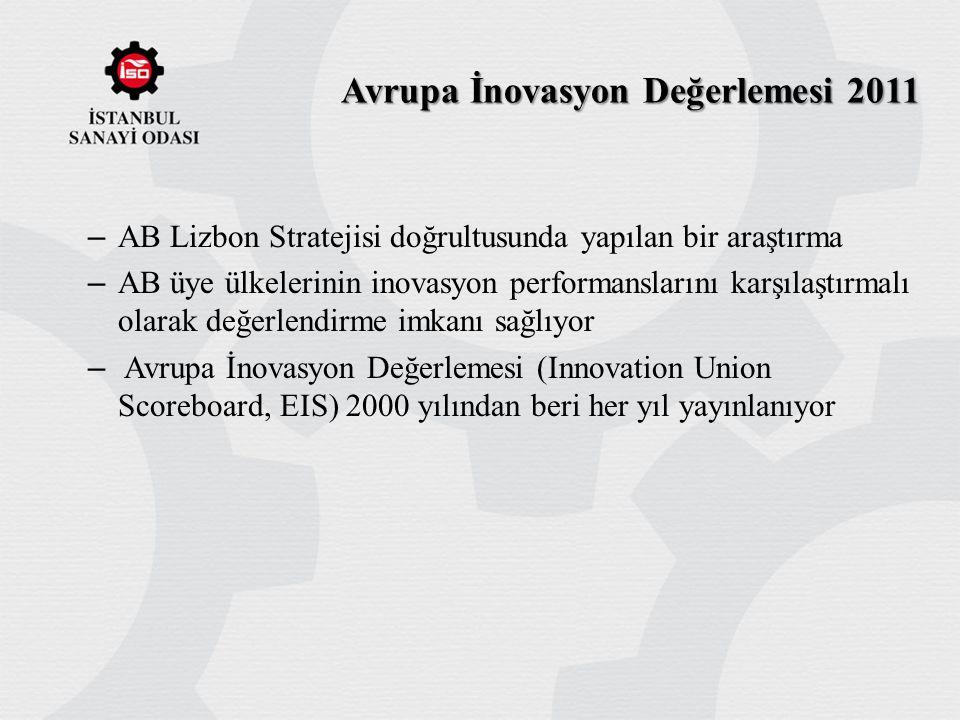 Avrupa İnovasyon Değerlemesi 2011 – AB Lizbon Stratejisi doğrultusunda yapılan bir araştırma – AB üye ülkelerinin inovasyon performanslarını karşılaşt