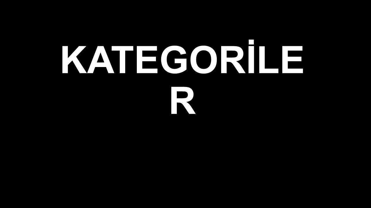 KATEGORİLE R