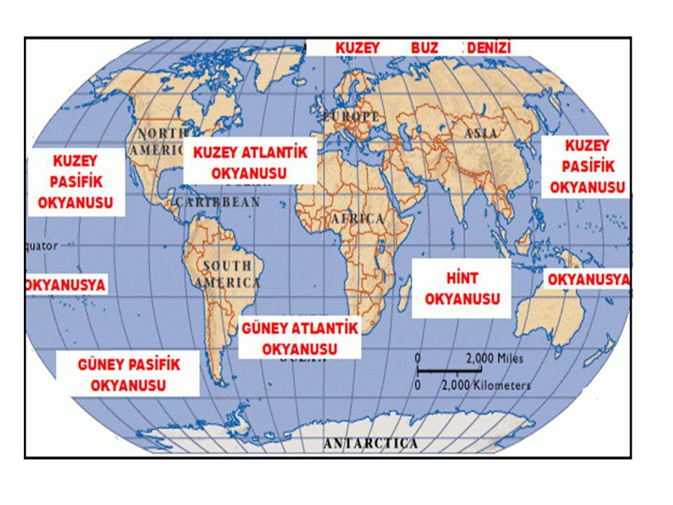Büyük Okyanus(Pasifik Okyanusu) Amerika ve Asya kıtaları arasında bulunan dünyanın en büyük okyanusudur.