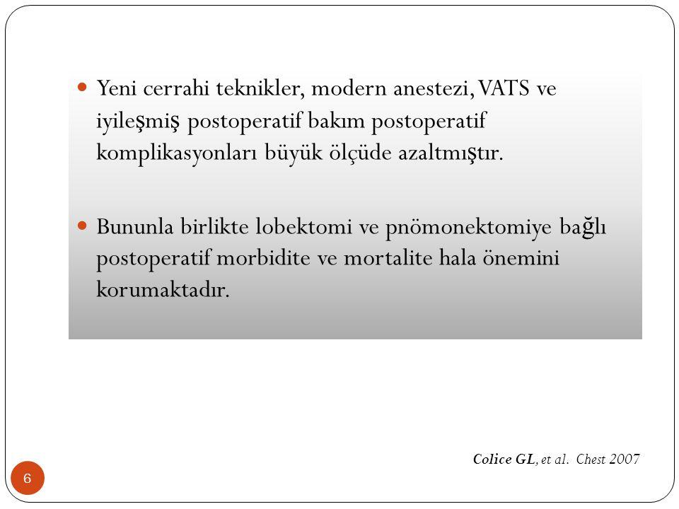 SOLUNUM FONKS İ YON TESTLER İ (SFT) 37 Endikasyonlar 1.