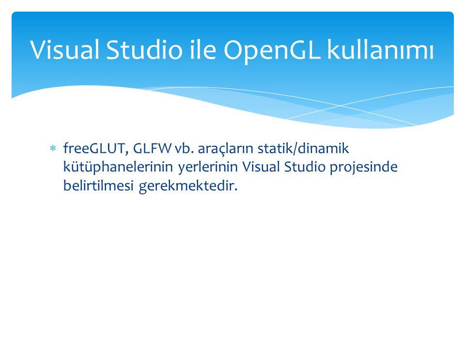  freeGLUT, GLFW vb.