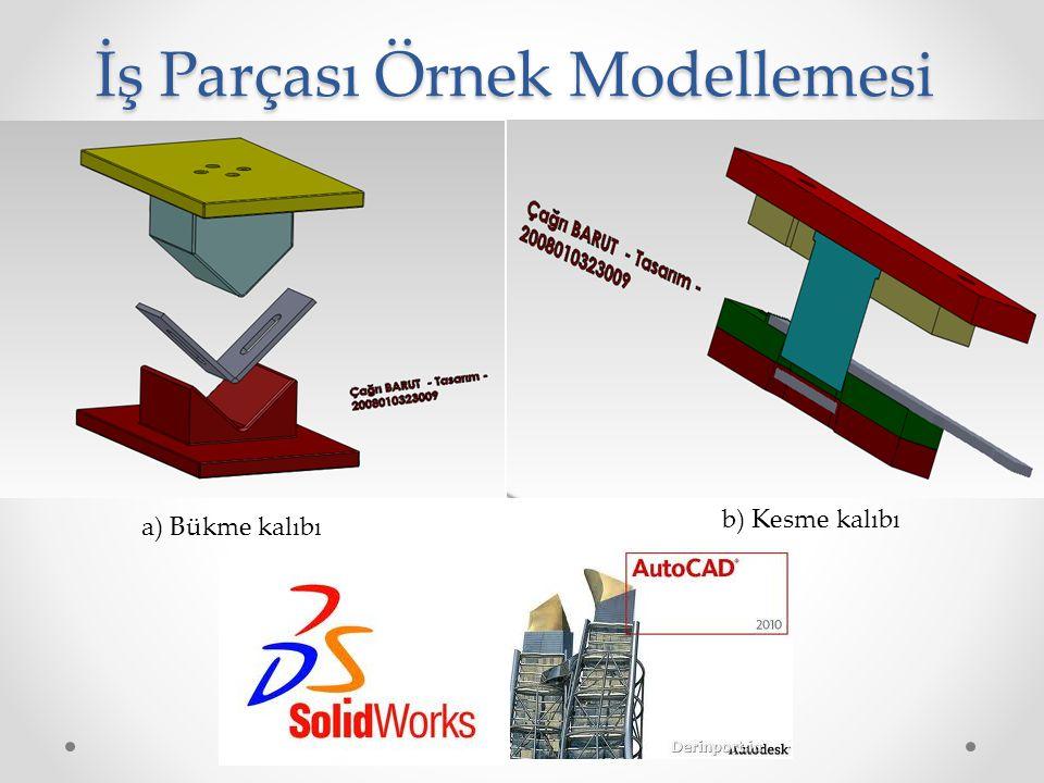 İş Parçası Örnek Modellemesi b) Kesme kalıbı a) Bükme kalıbı