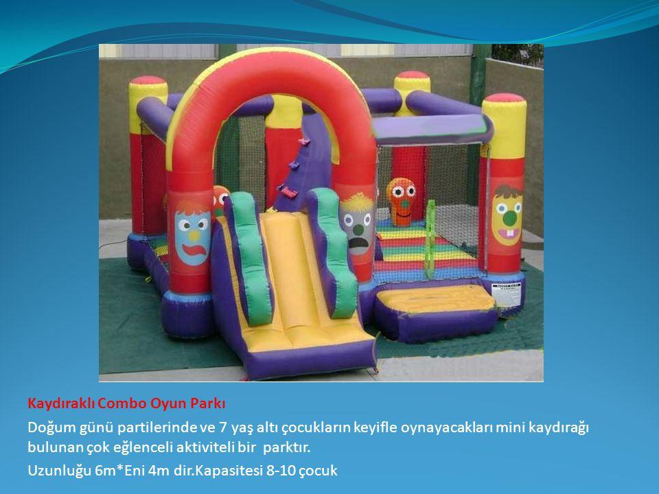 Kaydıraklı Combo Oyun Parkı Doğum günü partilerinde ve 7 yaş altı çocukların keyifle oynayacakları mini kaydırağı bulunan çok eğlenceli aktiviteli bir