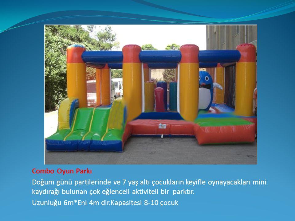 Combo Oyun Parkı Doğum günü partilerinde ve 7 yaş altı çocukların keyifle oynayacakları mini kaydırağı bulunan çok eğlenceli aktiviteli bir parktır. U