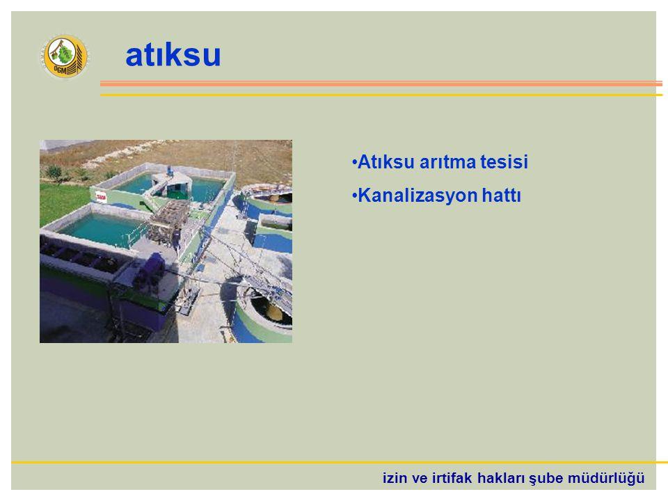 izin ve irtifak hakları şube müdürlüğü atıksu Atıksu arıtma tesisi Kanalizasyon hattı
