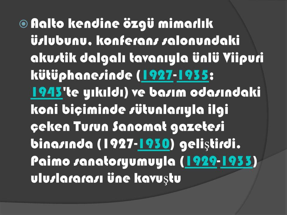 1939 Fin Pavyonu Finlandiya