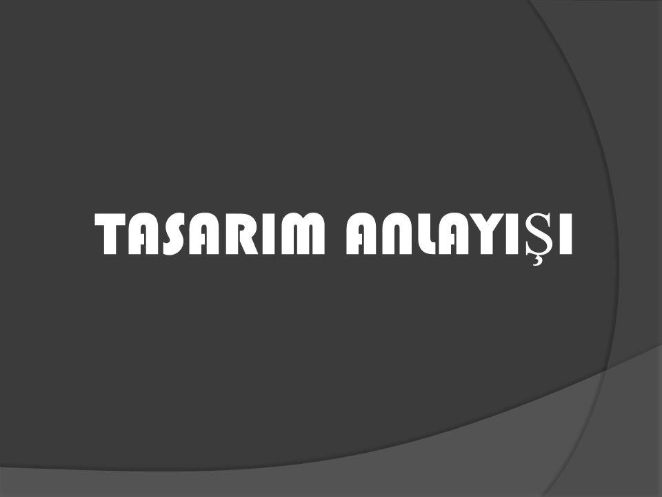 TASARIM ANLAYI Ş I