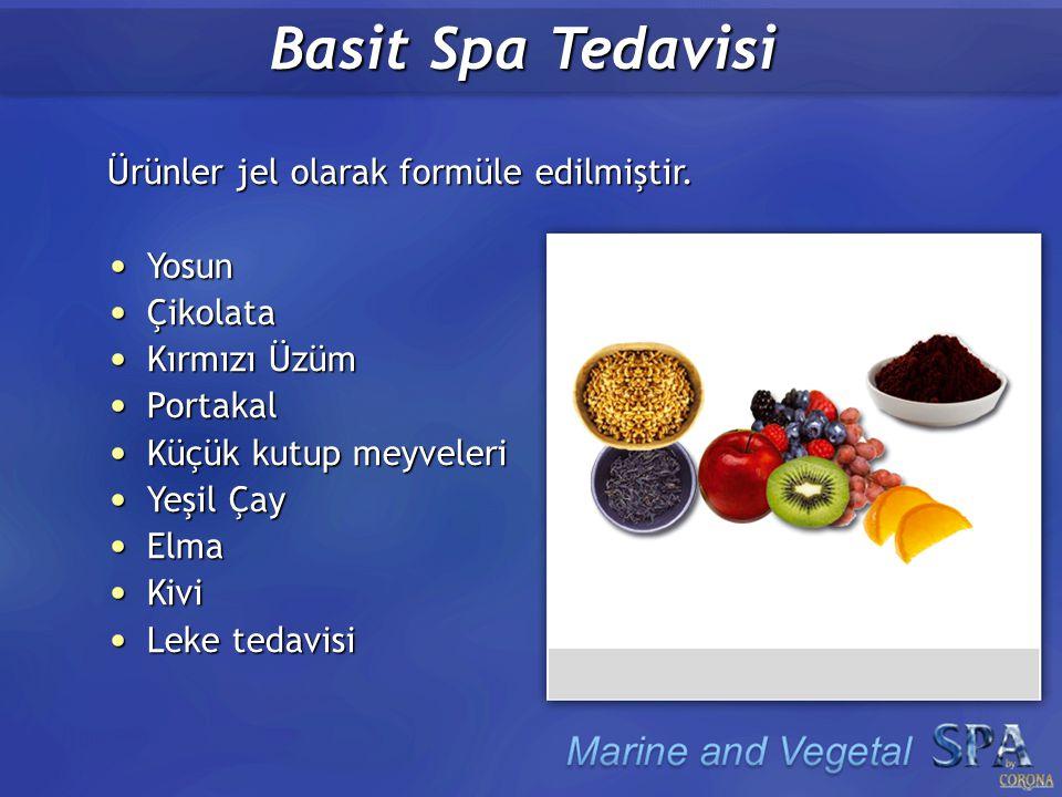 Basit Spa Tedavisi Ürünler jel olarak formüle edilmiştir.