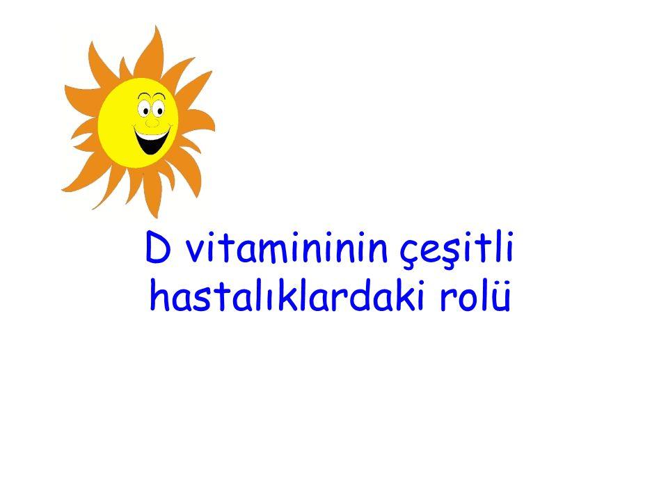 Kemik dışı organlar-D vitamini Dünya'da son yıllarda yapılan D vitamini ile ilişkili devrim niteliğindeki birçok önemli araştırmalar yapılmıştır.
